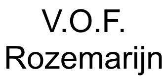 V.O.F. Rozemarijn